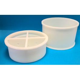 Cylindrisk mikroperforerad ostform, Ø32,2 cm, 10-12 kg