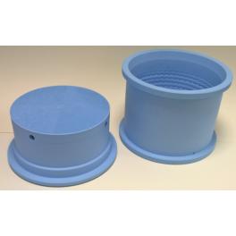"Cylindrisk mikroperforerad ostform ""Manchego"", Ø20 cm, 3 kg."