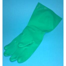 Diskhandskar, grön, storl 9, 1 par.