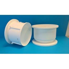 "Cylindrisk mikroperforerad ostform ""Gouda"", Ø23 cm, 3 kg"